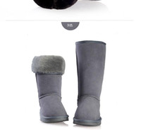 Wholesale BGG Snow Boots Leather Boots Classic Tall Canister Gray Fashion Women s Flats Winter Boots