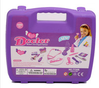 Wholesale original hot Simulation medicine cabinet children doctor toy suit baby play toys