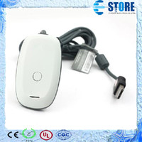 Wholesale wireless PC USB gaming receiver for xbox black white New and High Quality s