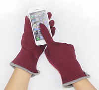Wholesale Female fashion flannelet fall winter touch screen gloves