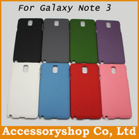 For Samsung Plastic Customize Frosted Matte Surface Quicksand PC Case For Samsung Galaxy Note 3 Note3 III N9000 Fashion Cover Hard Back Shell 100pcs