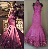 Real Photos prom dresses 2012 - 2012 Sexy New Halter Satin Rhinestones Evening Dresses Mermaid Applique Beaded Floor Length Prom Dresses to get one petticoat free