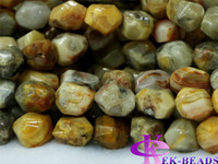 Stone agate cut stone - Discount Natural Genuine Yellow Crazy Lace Agate Nugget Loose Beads Hand Cut Free Form mm Fit Jewelry quot