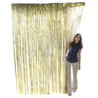 Wholesale 12pcs X cm Length X cm Width Glod String Curtain Fringe Panel Room Divider Partition Door Window Wall Brand New