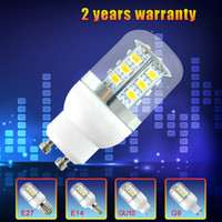 SMD 8W 220V Free Shipping G9 E27 E14 GU10 8W 24pcs SMD5730 LED Corn Light Bulb With Cover Warm White White 110V 220V 360degree Mini LED Lamp bulbs