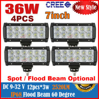 "Spot Beam 30 Degree 2700lm 2014 4PCS 8"" 36W 12LED*(3W) CREE LED Working Light Bar Spot Driving Off-Road SUV ATV 4WD 4x4 Flood Beam 9-32V 2800LM JEEP Fog Reflection Cup"