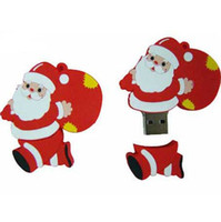 Wholesale 20pcs Christmas Gift Style Santa Claus USB Stick Capacity GB GB GB USB Flash Memory Drive