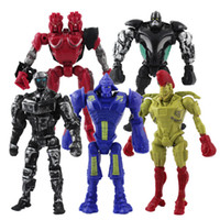 Wholesale 2 Set REAL STEEL ATOM ZEUS NOISY BOY MIDAS TWIN CITIES ROBOT SET MULTI ACTION FIGURE SETS