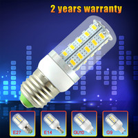 Corn SMD 12W Free Shipping E14 E27 G9 GU10 110V 220V 12W 36*SMD5730 Cover LED Light Bulb With Cover Corn Light White Warm White 110V 220V Lamp for home