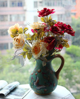 Wholesale Ceramics Hand painted vase American Rustic style Country Style Porcelain Vases