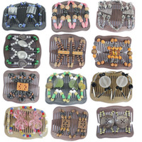 Headwear Yes Adult 20PCS Lot, 2013 New Arrival! Fashion Double twin Magic Hair Combs, Accessories for woman, wholesale, Mixed designs, MHC015