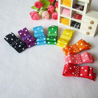 Wholesale Fashion Baby Girl Hair Clips Spot Ribbon Double Hair Bows Hair Accessories Color