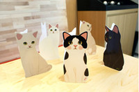 Wholesale Hot Cute Cat Christmas Greeting Cards Christmas D cartoon blessing cards with envelopes qjq289