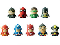 Wholesale Super man Cartoon Model USB Flash Memory Pen Drive Stick GB GB GB GB Tin Box
