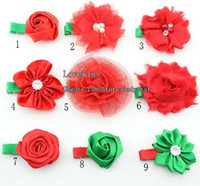 Barrettes Cloth Solid Girls Hair Clips Child Christmas Princess Barrettes Duckbill Clip Baby Hair Accessories Kids Cute Barrettes With Flower Children Accessories