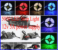 Wholesale 5050 SMD Led Strip Light white red blue green Leds m Waterproof V A Power Supply With EU AU US UK Plug