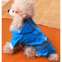 Wholesale Pet Raincoat Pet Clothes Pet Apparel Hot Seller Pet Apparel PU Reflective Raincoat Dog Waterproof Raincoat CA713