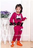 Wholesale Retail set colors kids sport wear Baby Clothing Set girls sport suit Fashion two piece Baby Garment Butterfly Set