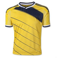 Wholesale New Colombia Soccer Jersey Yellow The Columbia World Cup Home Kit Mens Jerseys Brand Players Sportswear World Cup Collectibles