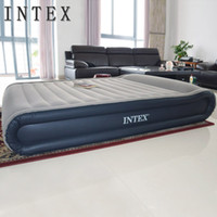 air travel express - Intex air bed queen size inflatable mattress with bulit in pillows and e pump intex free express