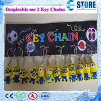 Wholesale Newest Despicable Me Key chain Movie Anime Minion toys Figure Pendants In stock Fast delivery DHL Free