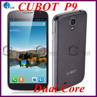 WCDMA Dual Core Android Cubot P9 5.0inch MTK6572 Dual Core 1.2GHz android Smart Phone TFT capacitive screen 512MB RAM 4G ROM GPS 3G +Free filp case