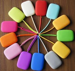 Promotion couleur de titulaire de la carte Porte-clefs en silicone de vente chaude Porte-clés Porte-clés Porte-monnaie Porte-monnaie sac de couleur de bonbons pour femmes de dames de filles DHL libre best2011