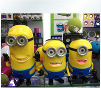 Wholesale Christmas gift Minions Speaker Portable DESPICABLE ME Mini Speaker MP3 Player Amplifier Micro SD TF Card USB Disk Computer