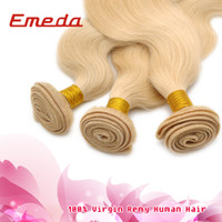 Body Wave Brazilian Hair Hair weave/hair weft/hair extension Brazilian Virgin Human Hair Extensions 613 Light Color Human Hair Weaves 8-30 Inch Hair Wetfs Can be Dyed Hot Sales