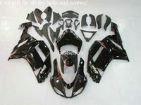 Wholesale Free gift for all the bolts and screws Complete fairing kit for ZX6R ZX R ZX R ABS Plastic Clossy Black Gary
