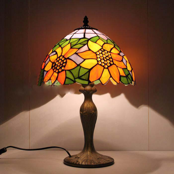 tiffany glass table lamps bedroom study lamp european style garden