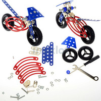 Wholesale 41pcs Detachable Puzzle Metal Bicycle Bike Building Educational Toy With Tool Children s Toys for Boys JA07008