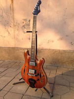 Solid Body guitar parts - New brand Languedoc guitar mahogany body with F hole and chrome part