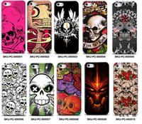 Plastic plastic skull - PC plastic Skull series pattern phone case for iphone s s Cheap iPhone phone accessories welcome customized Covers
