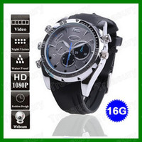 Wholesale 8GB GB HD P Waterproof Spy Watch Camera IR Night Vision Hidden DVR Watch Camcorder With Retail Box Packing
