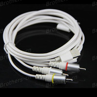 Wholesale AV Cable USB Dock Connector to HDMI TV RCA Video AV Cable Adapter for Apple iPad iPhone GS S iPod
