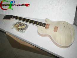 Custom Shop Mahogany Body Unfinished Electric Guitar Kit With Flamed Maple Top with hardware