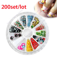 Wholesale 200set EMS free shiping new fashion Soft Ceramic Pieces For Nail Art Tips Decorations stickers Types