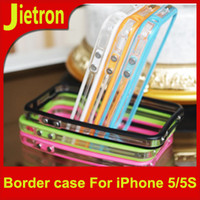 Cheap DHL Free!!!High quality Silicon Bumper Case for iPhone 5 5G Bumper Border With Metal Button Case iPhone5