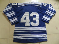 Ice Hockey Men Full 2014 Winter Classic Premier Jersey Royal Blue 43 Kadri Hot Sale Ice Hockey Jerseys Cheap Brand Players Sports Shirt Mix Order