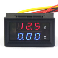 Wholesale 5 YB27VA in1 Volt Amp Panel Meter DC V A Red Led Dual display Voltmeter Amperemeter DC V Power Supply