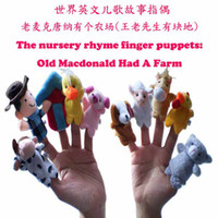 Wholesale Plush Finger Puppets Pattern For Kids Students Talking Props Toys dolls World The Nursery Rhyme Old Macdonald Had A Farm