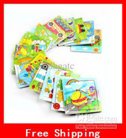 Wholesale Educational Toys Wooden Puzzle Toy Cartoon Animal Piece Child Wooden Jigsaw Puzzle