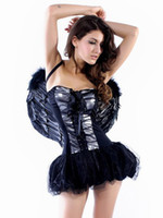 Wholesale Adult Sexy Fallen Angel Corset Costume latex clothing u10 mJW