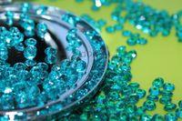 Wholesale 10000 pieces mm teal bule Diamond Confetti Table Scatter Wedding Favour Party Decoration