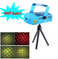 Wholesale Mini Red Green Moving Party Stage Laser LED Light Projector backdrop with tripod laser DJ party disco light mW V