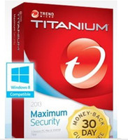Book Home DOS Trend Micro Titanium Maxmium Security 2014 2013 1 Year 3 PCs 365days license key activation code