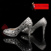 PU Beaded High Heel mygirlsdress Gorgeous design Royal Silver Beaded Women's High Heels Bridal Evening Prom Party Wedding Dresses Bridesmaid Shoes