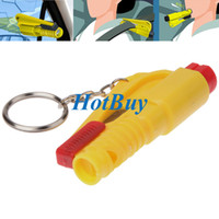 Wholesale 3 In Car Emergency Safety Keychain Rescue Tool Seatbelt Cutter Glass Breaker with Whistle