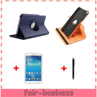 Wholesale Colorful Degree Rotary PU Leather Case Cover Stand Skin Pouch Screen Protector Stylus for Samsung Galaxy Tab T310 T311 quot